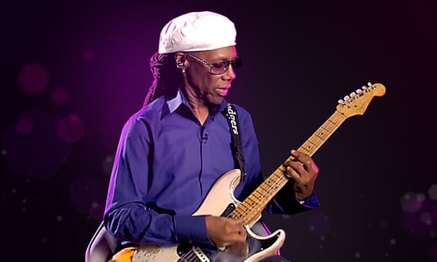 Freak out! It's Nile Rodgers in your living room, singing and answering questions